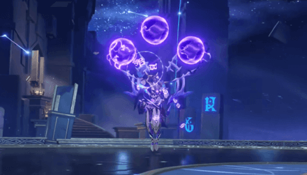 Abyss Lector: Violet Lightning with orbs