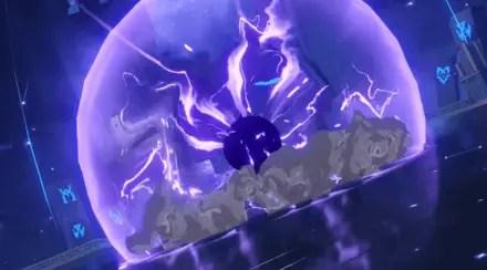 Electric shockwave of Abyss Lector: Violet Lightning