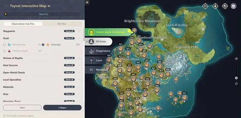 Geoculus Locations Map