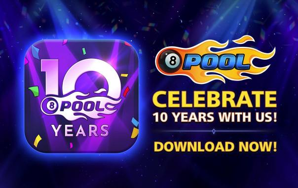 8-ball pool download now ten years