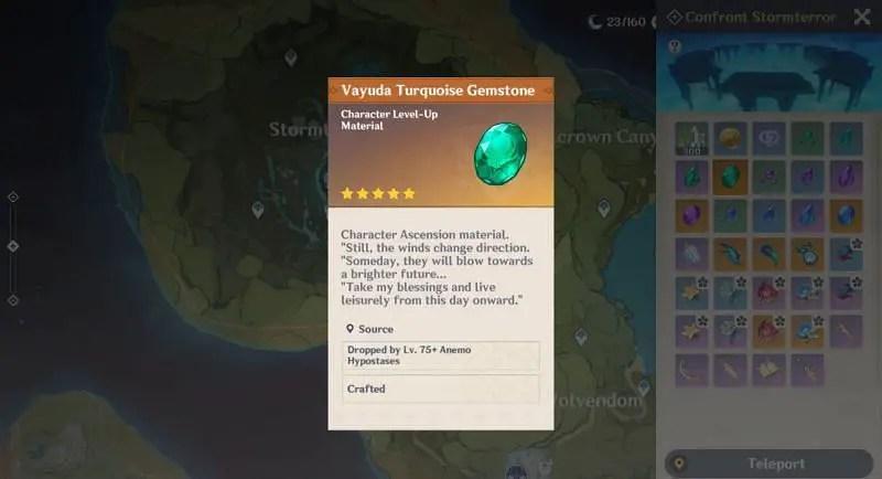 Vayuda Turquois Kazuha's Ascension Materials