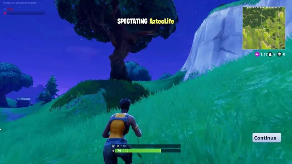 Fortnite spectating