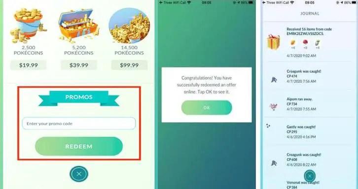 How to Redeem Pokémon Go Codes