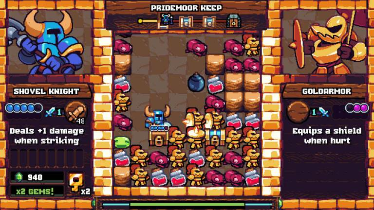 The main play area of Pocket Dungeon.
