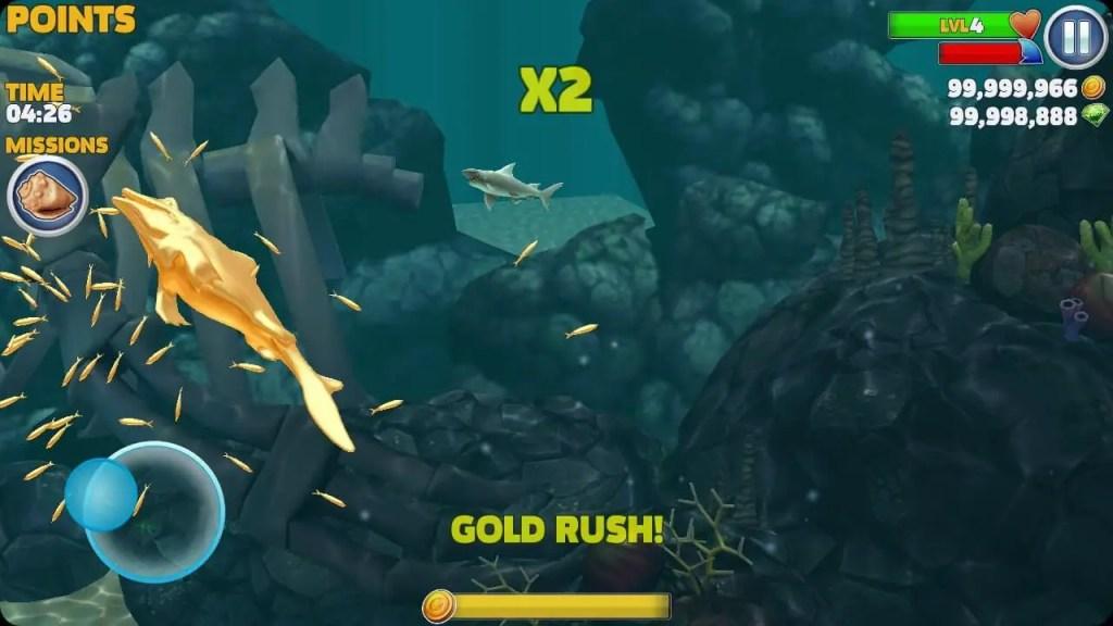 Hungry Shark Evolution Gold rush ss