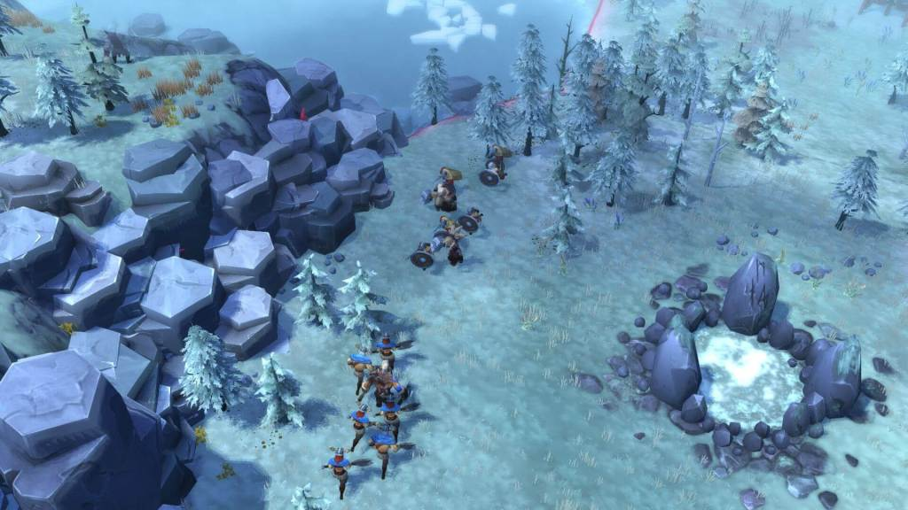 Vkings witnessing the harsh winters of Northgard.