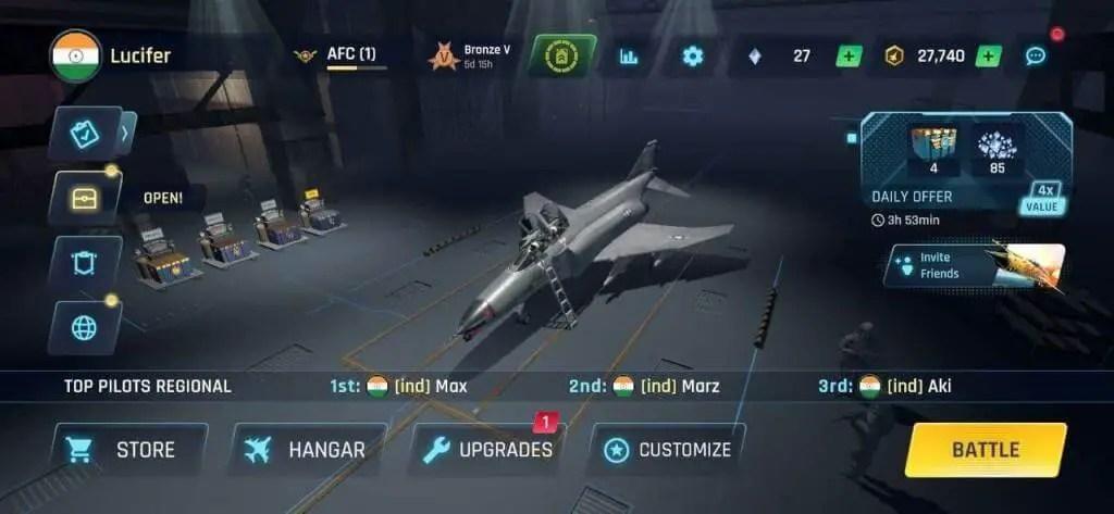 Sky Warriors Airplane Combat key items