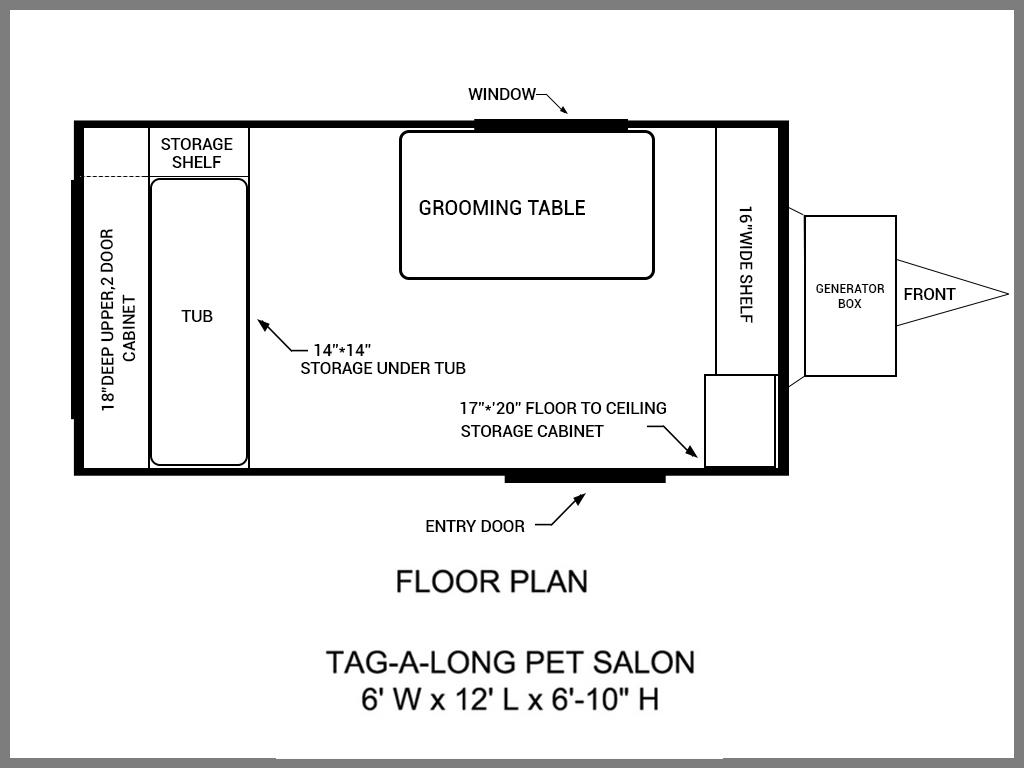 Floor Plans Mobile Grooming Trailers & Salons