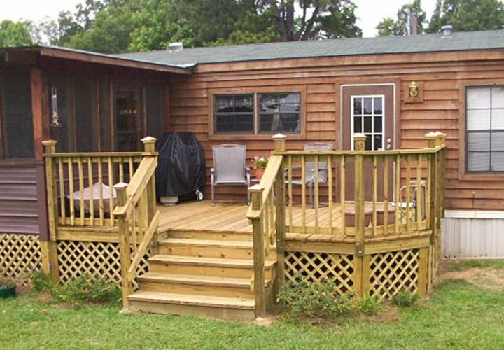 Mobile Home Back Porch Designs Mobile Homes Ideas   Outside Stairs For Mobile Home   Front Door   Wood   Trailer   Fiberglass   Decks