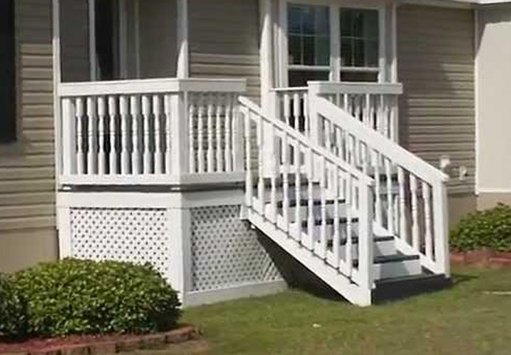Steps For Mobile Homes Wood Mobile Homes Ideas | Wood Mobile Home Steps | Wooden | Pool | Outdoor | 8X12 Porch | Concrete