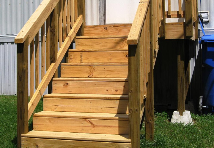 Exterior Stairs For Mobile Homes Mobile Homes Ideas   Ready Made Outdoor Stairs