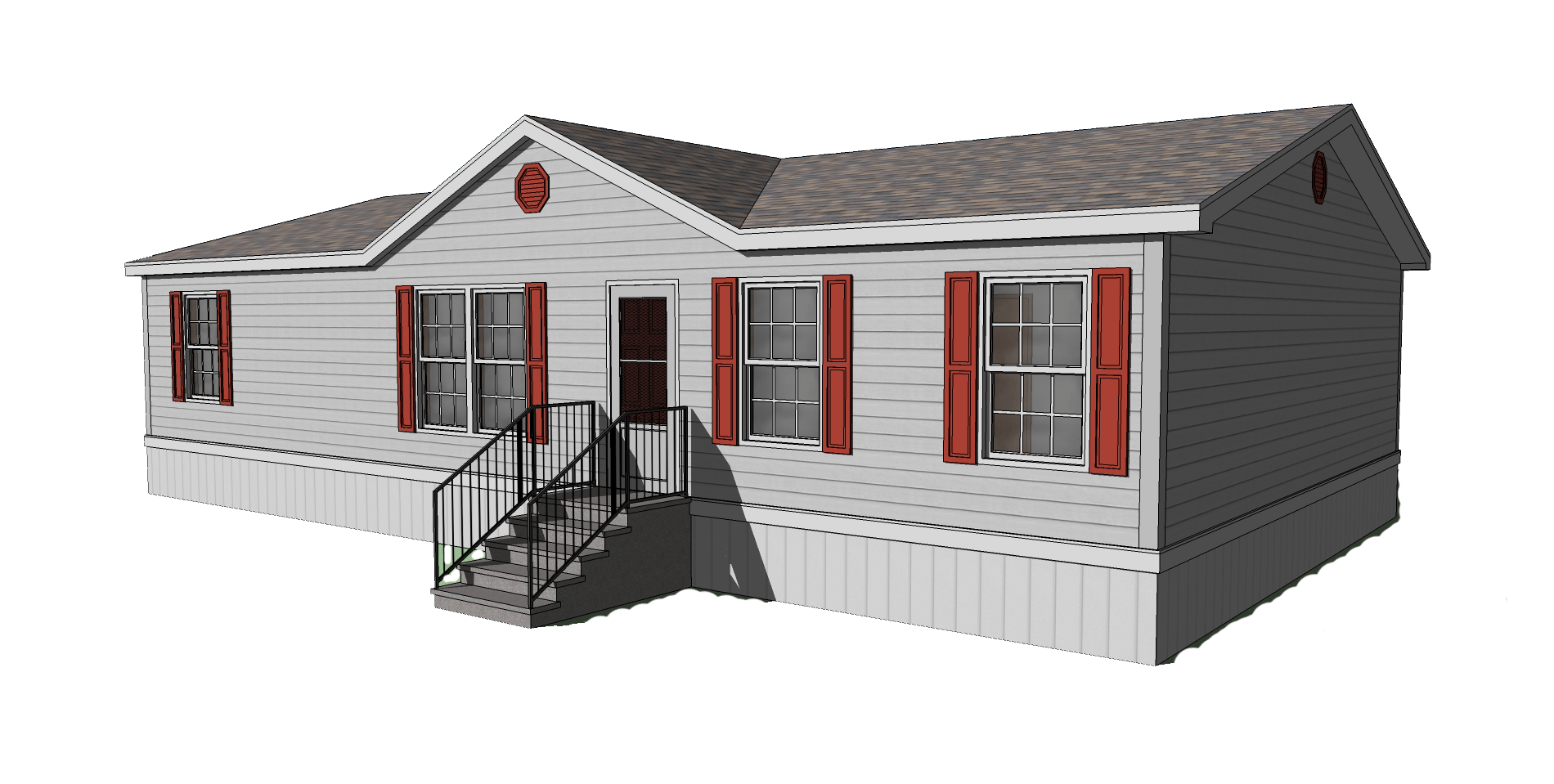 Stripped Double Wide Mobile Home Living