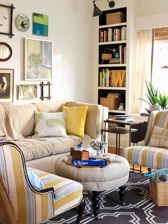 Beginner's Guide To Small Space Decorating | Mobile Home ... on Small Space Small Living Room Ideas  id=57323