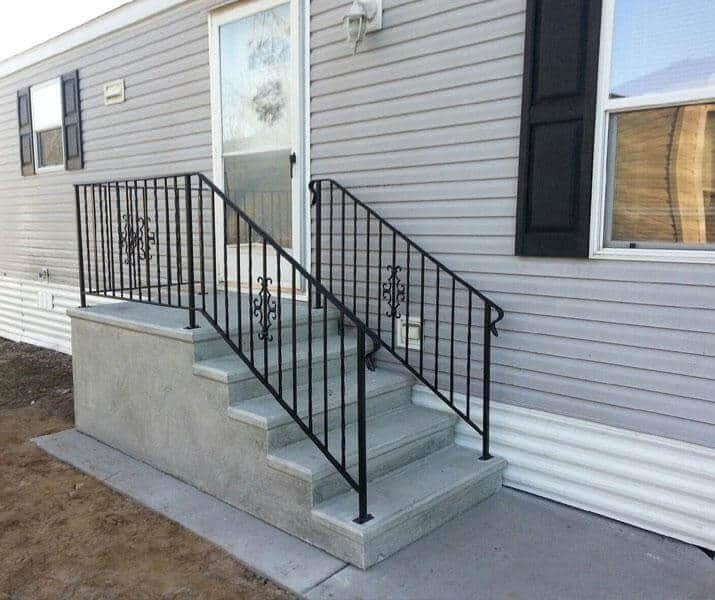 Everything You Need To Know About Mobile Home Steps Mobile Home | Handrails For Concrete Steps Lowes | Aluminum | Fiberglass | House | Simple | 1 Step