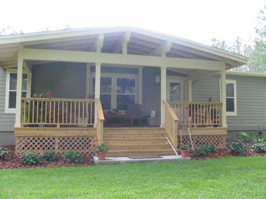 45 Great Manufactured Home Porch Designs   Mobile Home Living manufactured home porch designs 29 covered front porch design ideas for  manufactured homes