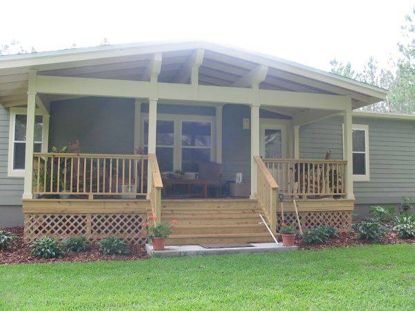 Mobile Home Designs: 45 Great Manufactured Home Porch Designs