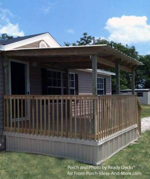 45 Great Manufactured Home Porch Designs   Mobile Home Living manufactured home porch designs 7a manufactured home covered porch and deck  ideas