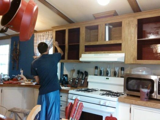 Mobile Home Gets Rustic Farmhouse Kitchen Makeover Painting