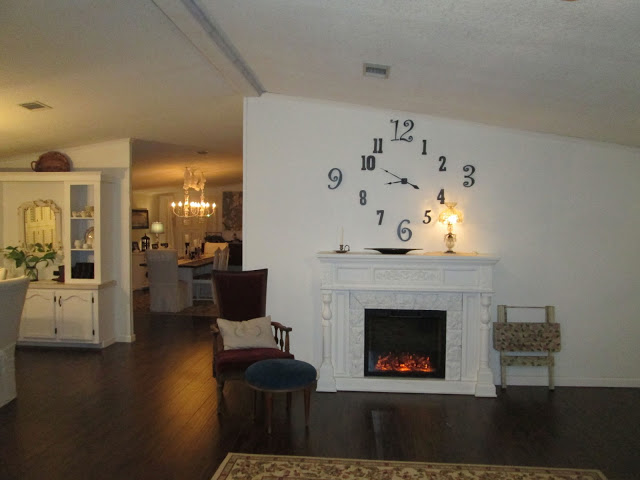 marvellous grand living room fireplace | The old dining room had a sofa and chair in it and wasn't ...