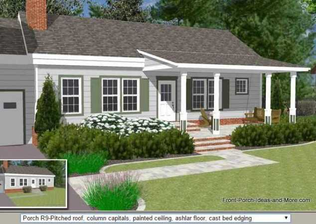 45 Great Manufactured Home Porch Designs   Mobile Home Living manufactured home porch designs front porch illustrator with pitched roof
