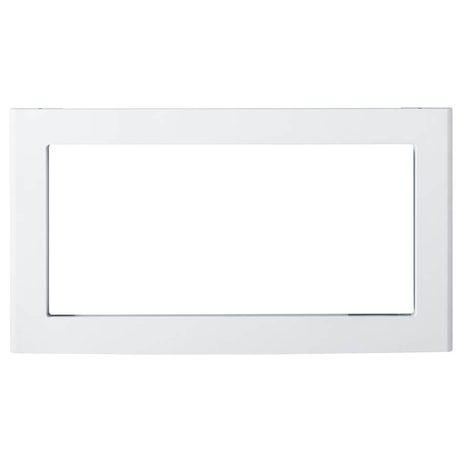 ge countertop microwave trim kit white in the microwave parts department at lowes com