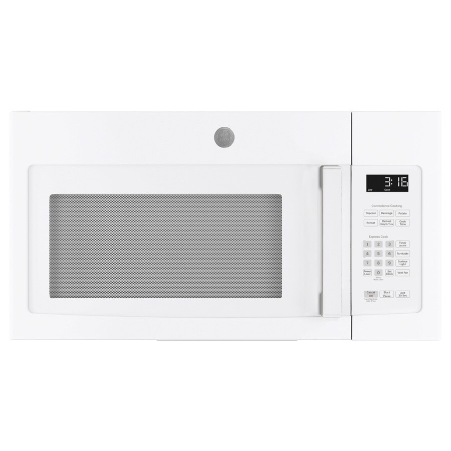 ge 1 6 cu ft over the range microwave white in the over the range microwaves department at lowes com