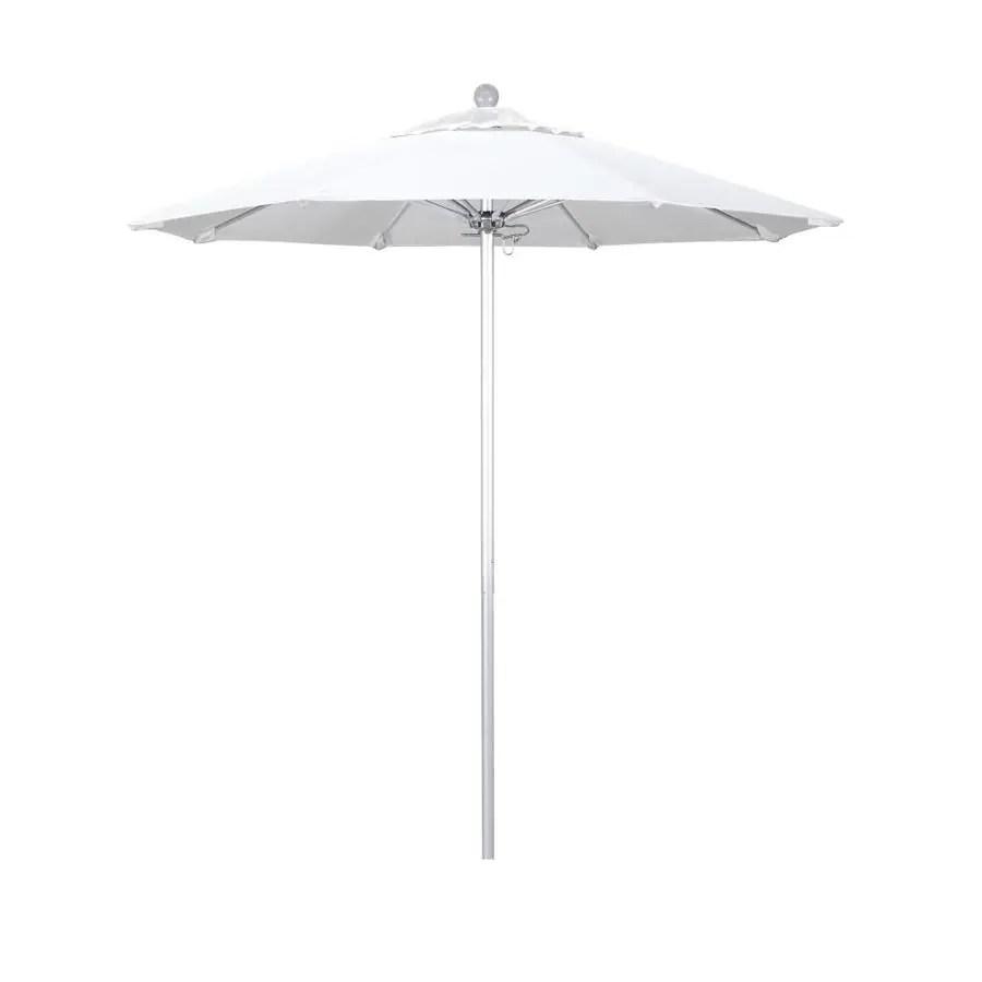 california umbrella 7 5 ft natural no tilt market patio umbrella in the patio umbrellas department at lowes com