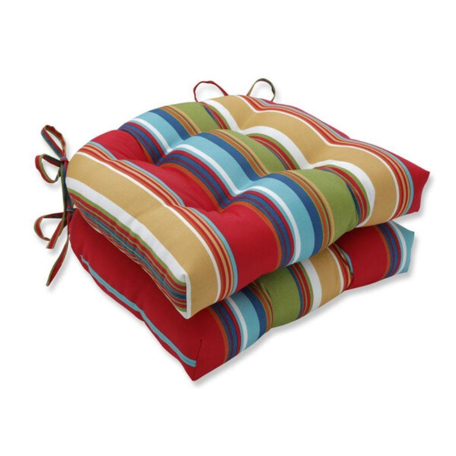pillow perfect westport garden 2 piece red patio chair cushion in the patio furniture cushions department at lowes com