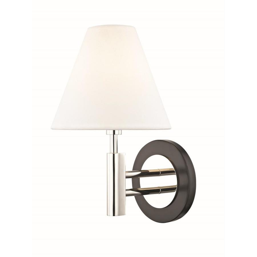 mitzi by hudson valley lighting robbie 7 5 in w 1 light polished nickel modern contemporary wall sconce in the wall sconces department at lowes com
