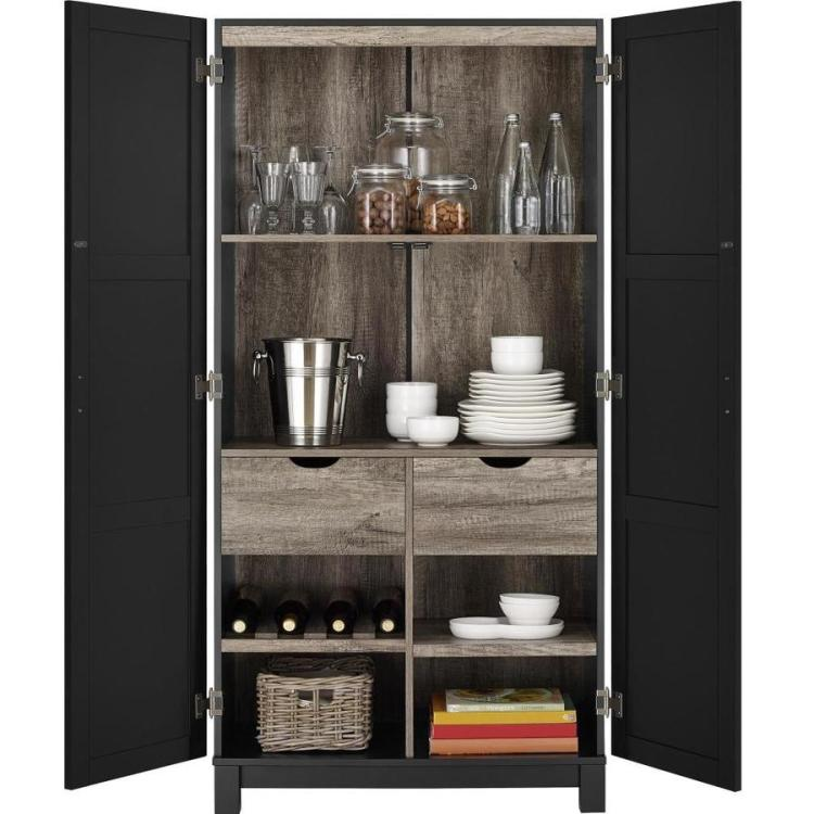 Ameriwood Home Carver Black Pantry In The Dining Kitchen Storage Department At Lowes Com
