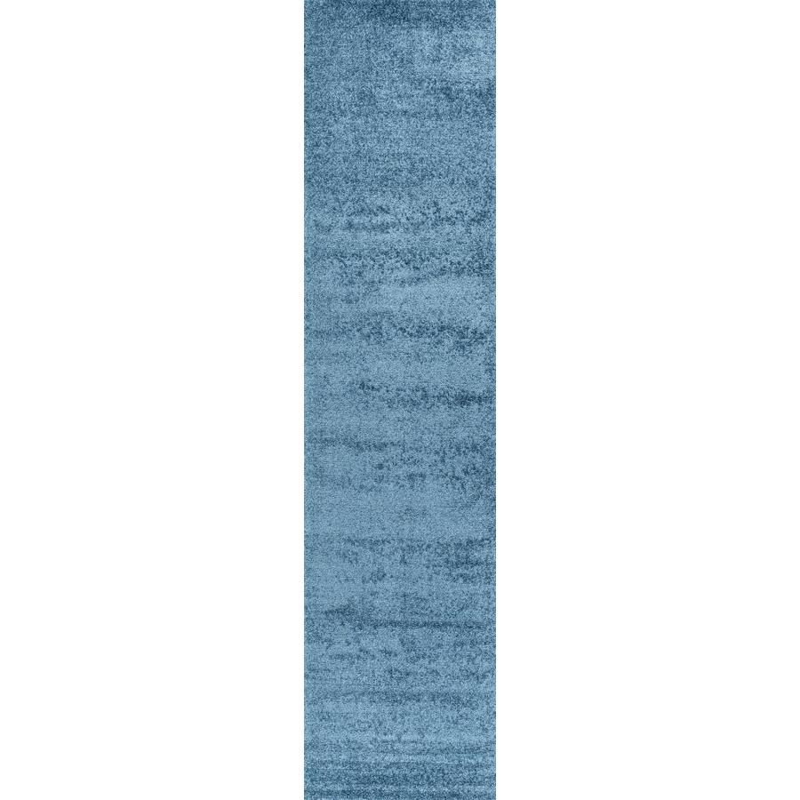 jonathan y haze solid low pile turquoise 2 ft x 8 ft runner rug in the rugs department at lowes com