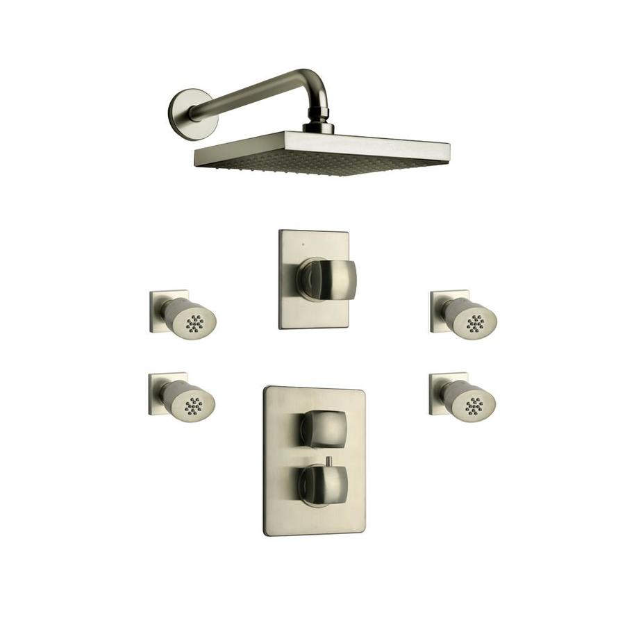 latoscana lady brushed nickel 2 handle shower faucet with valve in the shower faucets department at lowes com