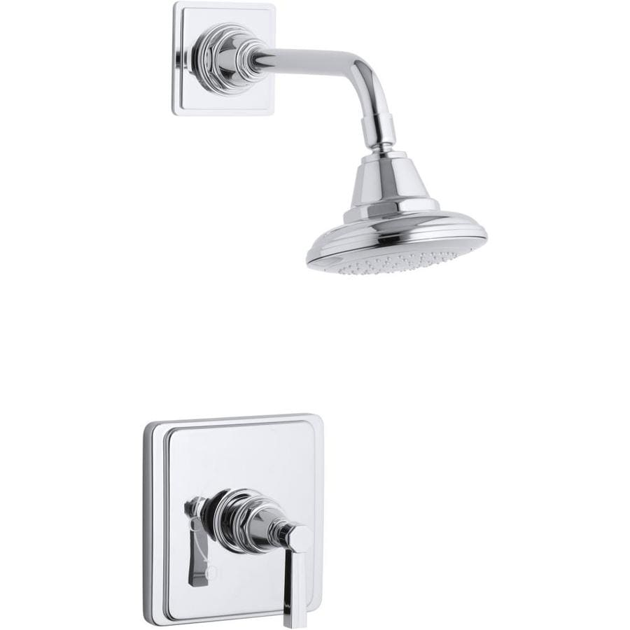 kohler pinstripe polished chrome 1 handle bathtub and shower faucet in the shower faucets department at lowes com