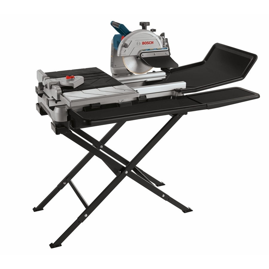 bosch 10 in 1 4 hp wet bridge sliding table tile saw with stand