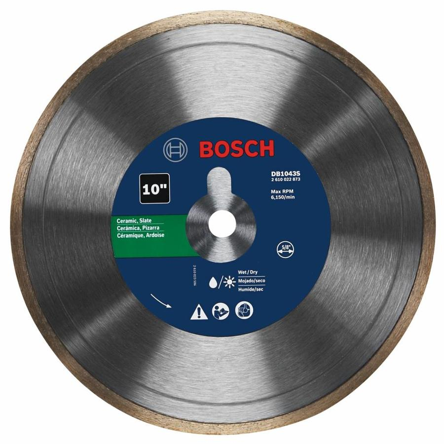 bosch 10 in dry continuous diamond saw blade