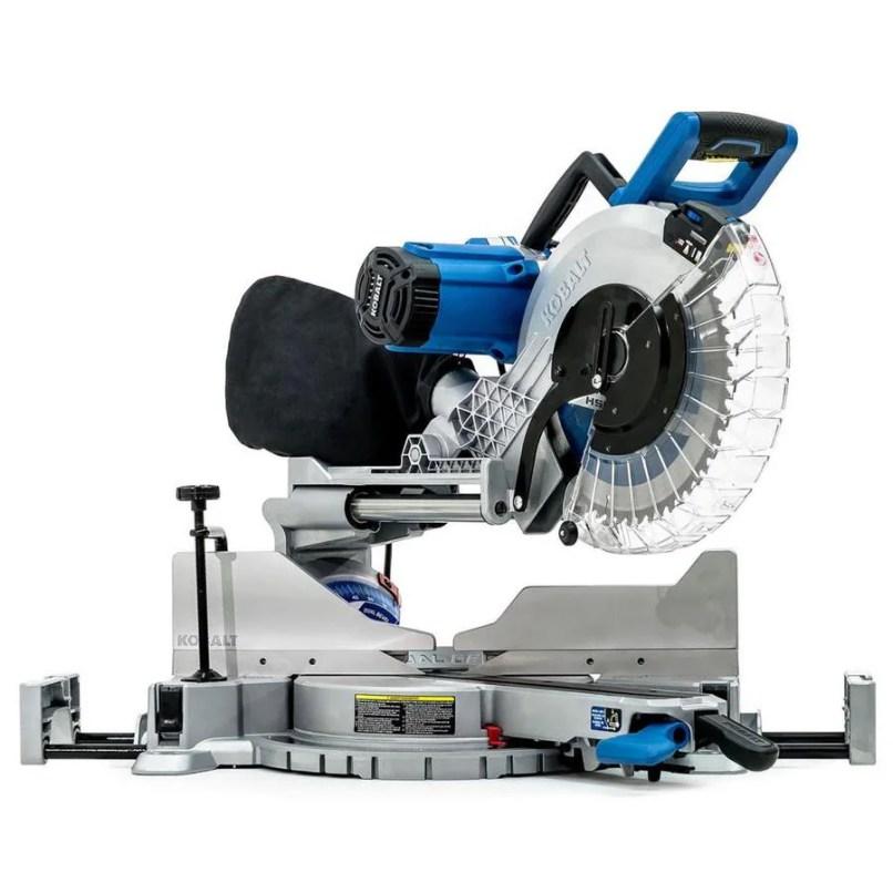 Kobalt 12 In 15 Amp Dual Bevel Sliding Laser Compound Miter Saw