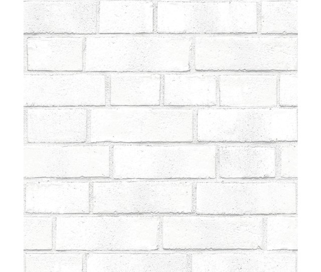 Tempaper Textured  Sq Ft White Vinyl Textured Brick Peel And Stick Wallpaper