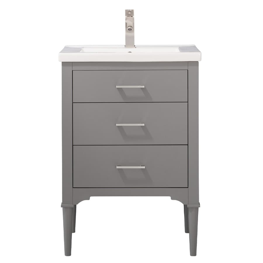 design element mason 24 in gray single sink bathroom vanity with white porcelain top