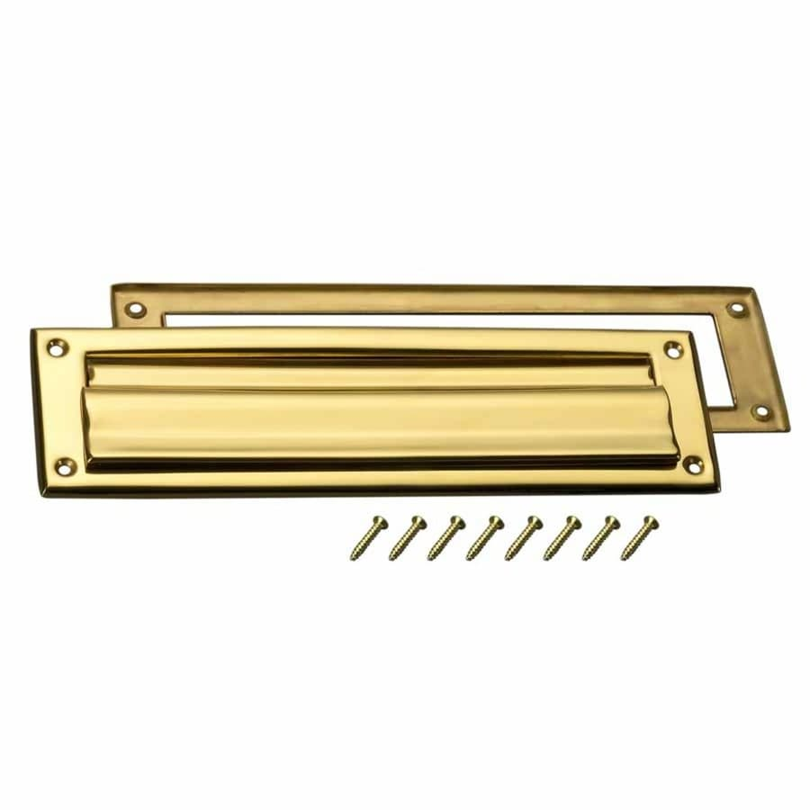Shop Gatehouse Brass Plated Mail Slot With Mounting