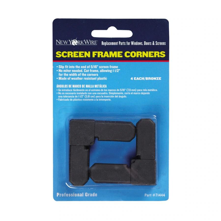 ⊱ Saint-Gobain ADFORS 5/16-in Brown Screen Frame Corners - a638