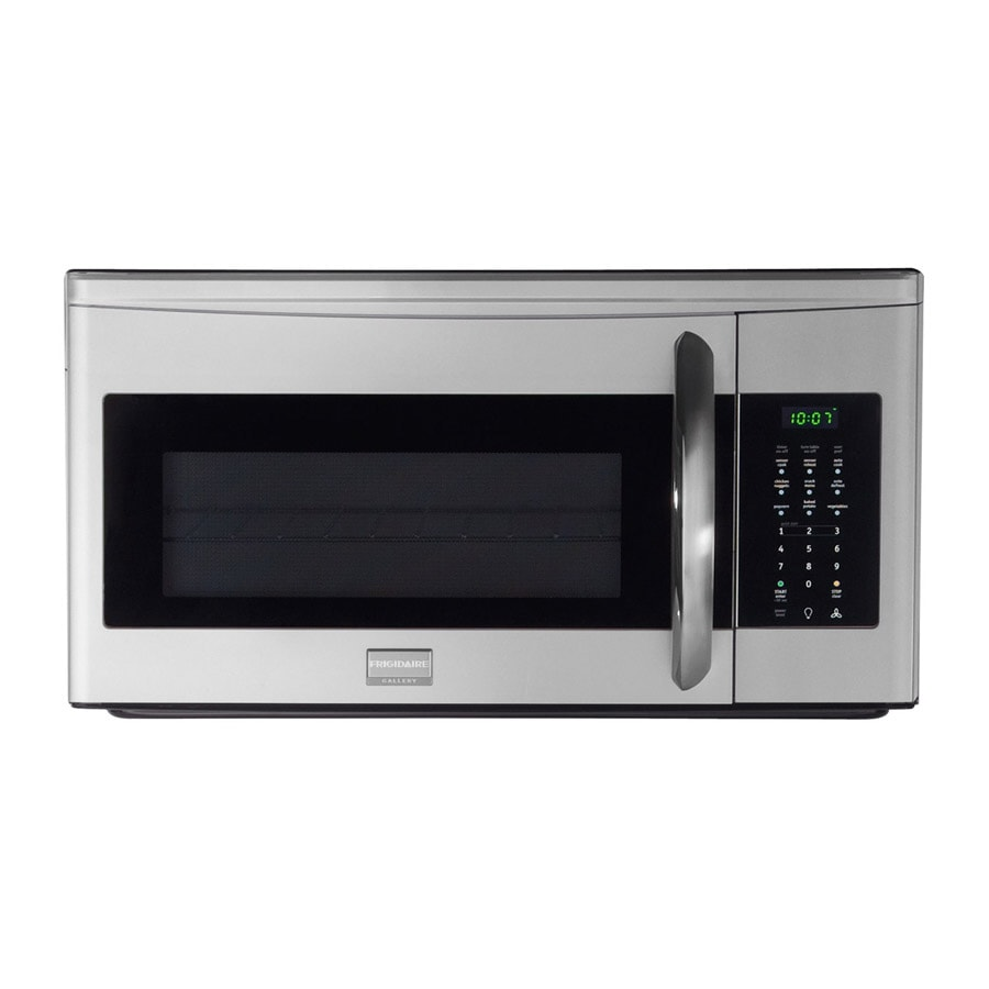 frigidaire gallery 1 7 cu ft over the range microwave with sensor cooking stainless steel