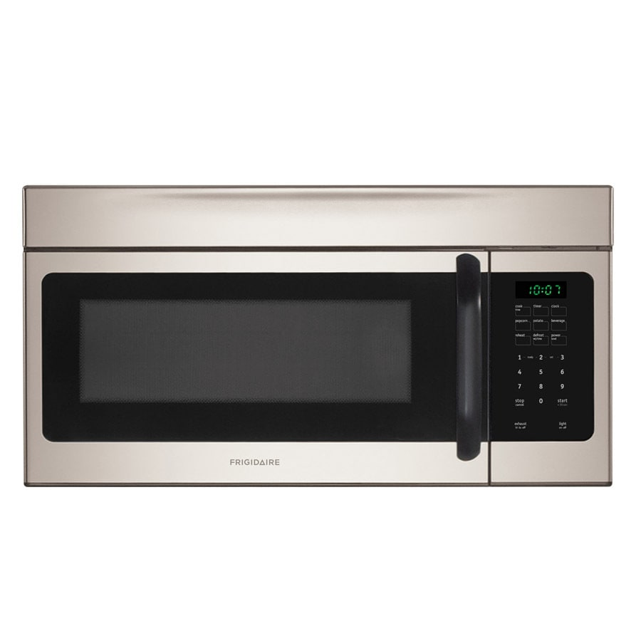 frigidaire 1 6 cu ft over the range microwave with sensor cooking controls silver mist common 30 in actual 29 88 in