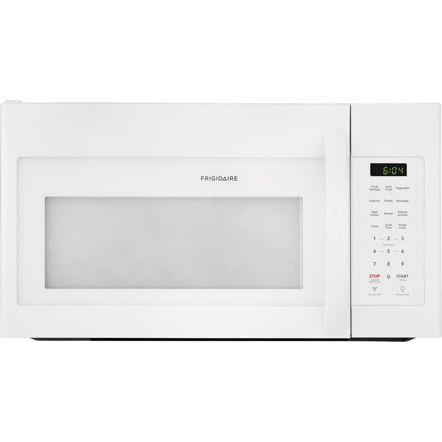 frigidaire 1 7 cu ft over the range microwave white common 30 in actual 29 875 in