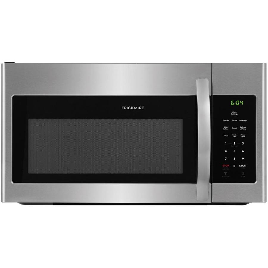 frigidaire 1 6 cu ft over the range microwave easycare stainless steel lowes com