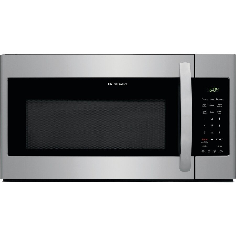 frigidaire 1 8 cu ft over the range microwave stainless steel lowes com