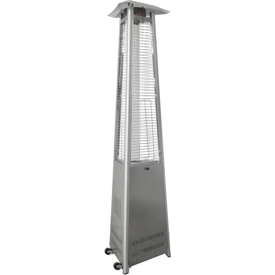hanover 42000 btu stainless steel floorstanding liquid propane patio heater
