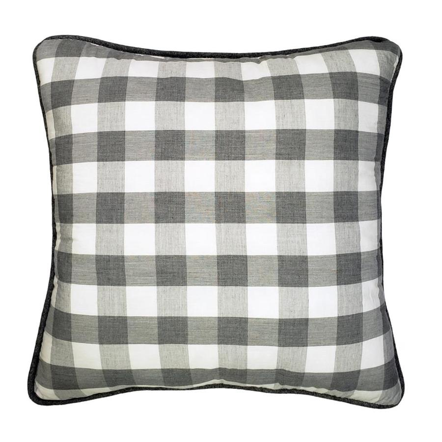 allen roth 3 piece 20 in x 20 in grey checker polyester square indoor decorative pillow lowes com