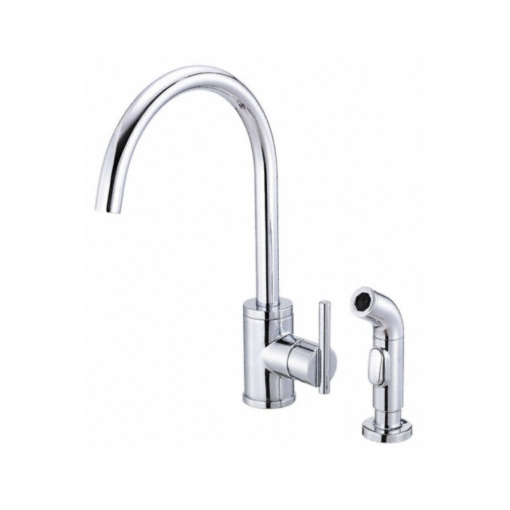 Shop Danze Parma Chrome Handle High Arc Kitchen Faucet