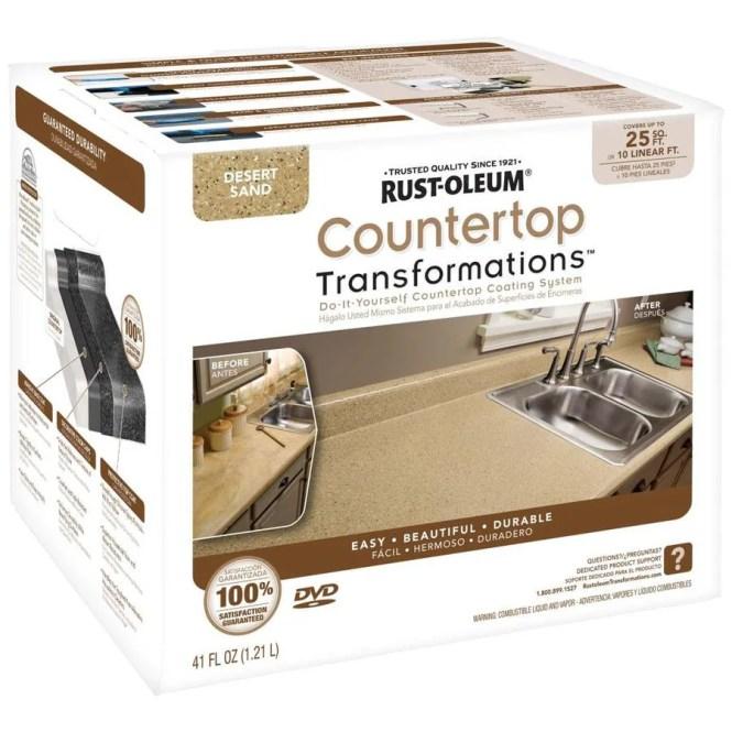 Rust Oleum Desert Sand Semi Gloss Countertop Resurfacing Kit Actual Net Contents