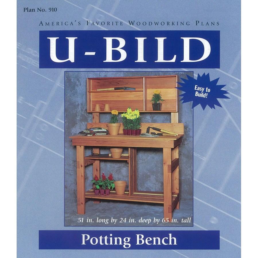 Shop U Bild Potting Bench Woodworking Plan At Lowes Com